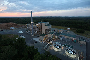 Sunrise view of the Biomass Plant